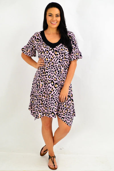 Pink Cheetah Tunic Dress