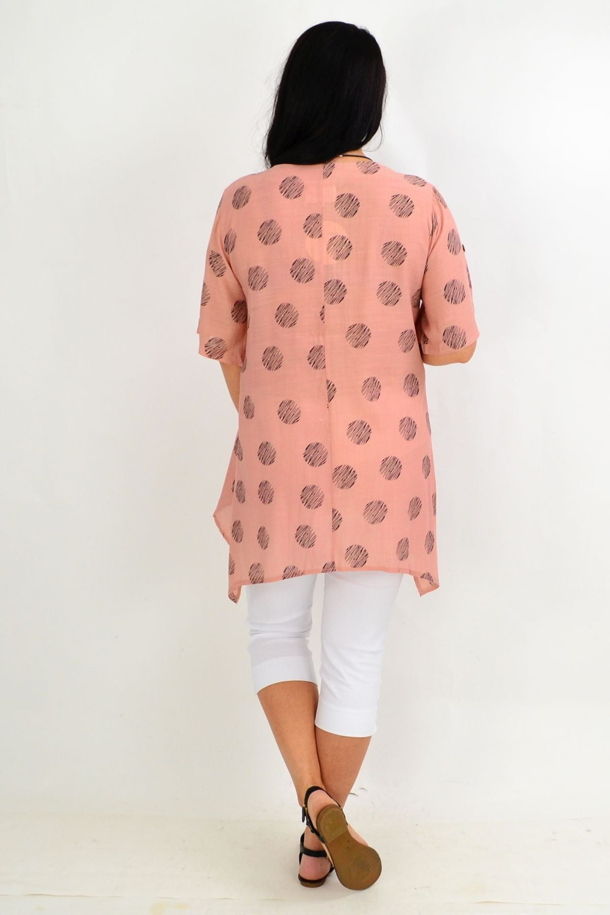 Dusty Pink Rita Relaxed Tunic Top