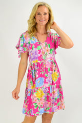 Pink Oriental Flower Garden Tunic Dress | I Love Tunics | Tunic Tops | Tunic | Tunic Dresses  | womens clothing online
