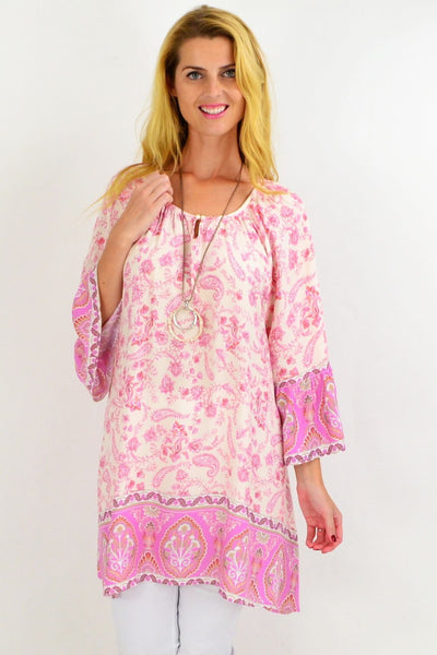 Soft Pink Light & Pretty Tunic Top | I Love Tunics | Tunic Tops | Tunic | Tunic Dresses  | womens clothing online