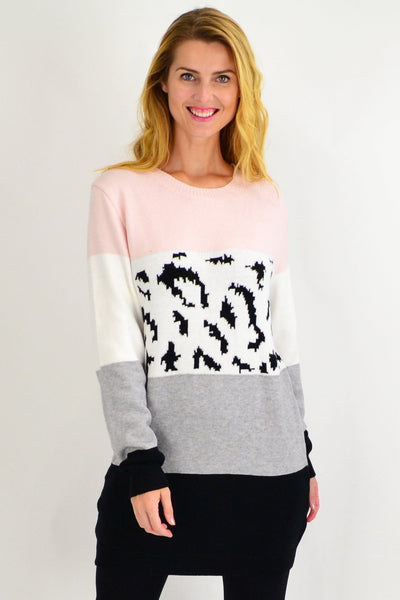 Baby Pink Woolly Winter Tunic Jumper - I Love Tunics