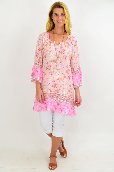 Soft Pink Light & Pretty Tunic Top