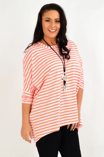 Coral Swing Stripe Tunic Top by Cordelia St | I Love Tunics | Tunic Tops | Tunic | Tunic Dresses  | womens clothing online
