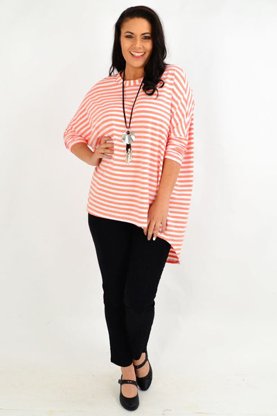 Coral Swing Stripe Tunic Top by Cordelia St
