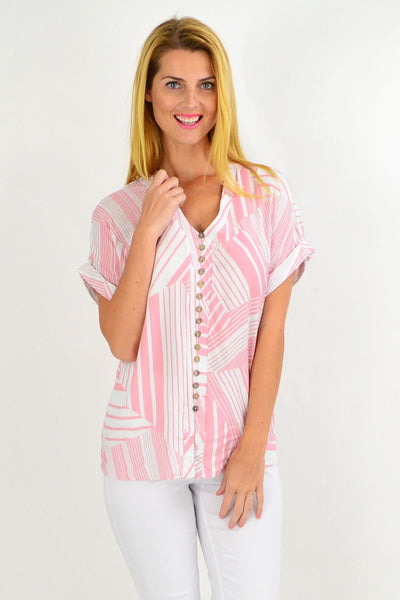 Pink White Stripe Tunic Top | I Love Tunics | Tunic Tops | Tunic | Tunic Dresses  | womens clothing online