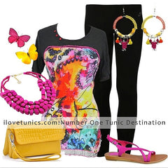Black Butterfly Tunic - at I Love Tunics @ www.ilovetunics.com = Number One! Tunics Destination