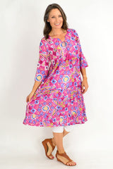 One Summer Long Pink Carnival Tunic Dress | I Love Tunics | Tunic Tops | Tunic | Tunic Dresses  | womens clothing online