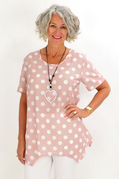 Pink Stacey Spot Tunic Blouse | I Love Tunics | Tunic Tops | Tunic | Tunic Dresses  | womens clothing online