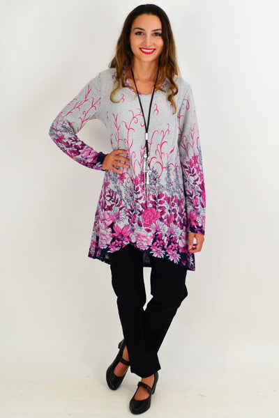Pink Floral Ferguson Tunic Top