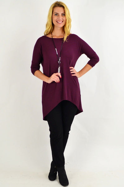 Plum Deliah Tunic Top