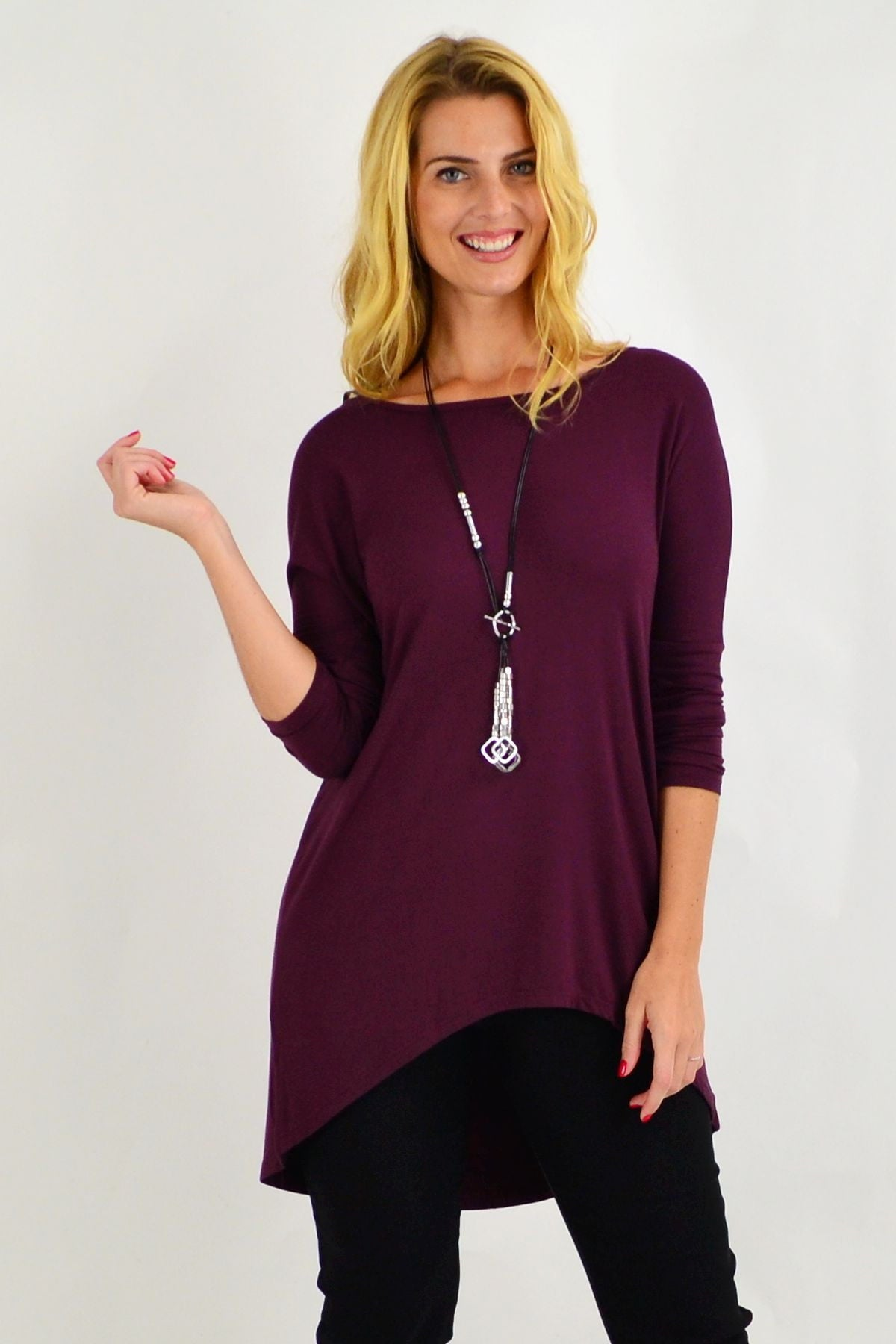 Plum Deliah Tunic Top | I Love Tunics | Tunic Tops | Tunic | Tunic Dresses  | womens clothing online