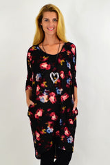 Abstract Rose Hi Low Tunic Dress | I Love Tunics | Tunic Tops | Tunic | Tunic Dresses  | womens clothing online