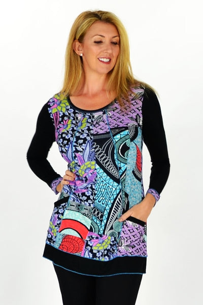 Purple Paradise Tunic - at I Love Tunics @ www.ilovetunics.com = Number One! Tunics Destination