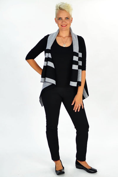 Grey Jessica Vest - at I Love Tunics @ www.ilovetunics.com = Number One! Tunics Destination