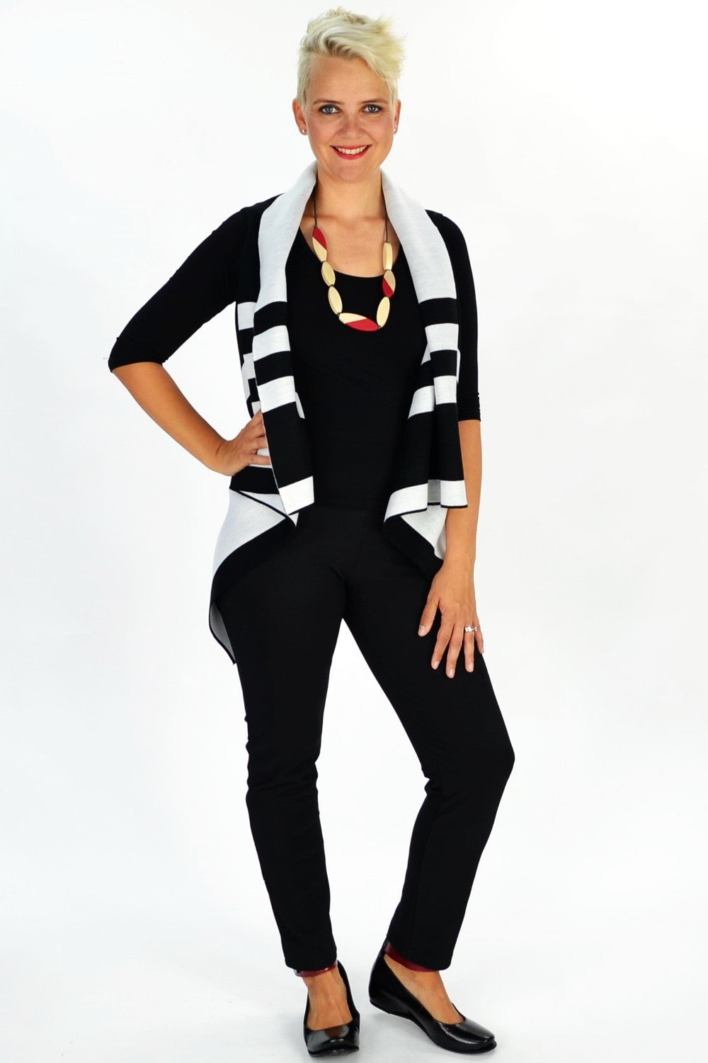 White Jessica Vest - at I Love Tunics @ www.ilovetunics.com = Number One! Tunics Destination