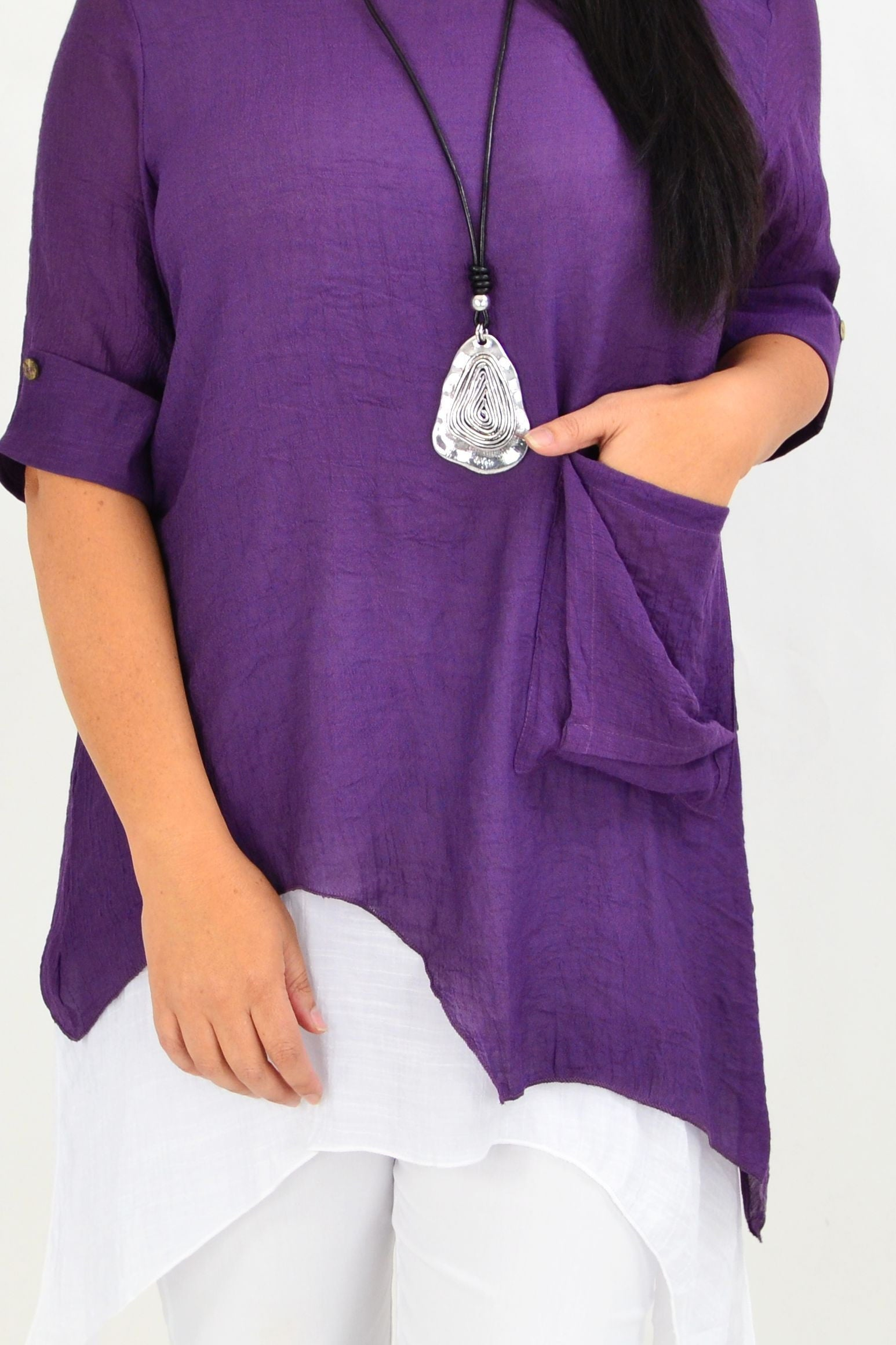 Pat's Purple Overlay Tunic Top | I Love Tunics | Tunic Tops | Tunic | Tunic Dresses  | womens clothing online