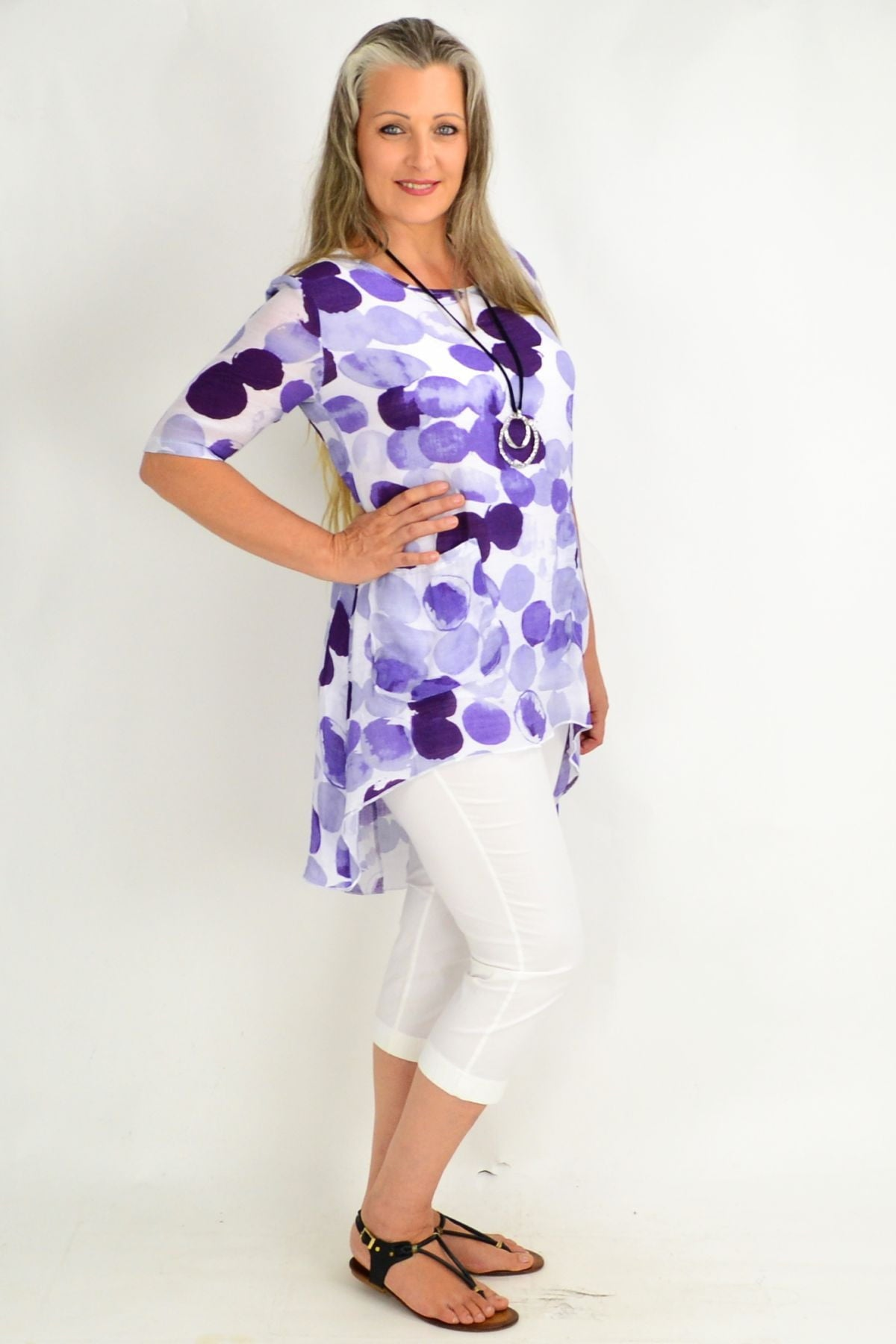 Purple Spot Relaxed Tunic Top | I Love Tunics | Tunic Tops | Tunic | Tunic Dresses  | womens clothing online
