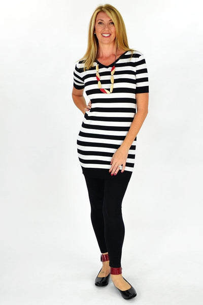 White Stripe Zoe Tunic