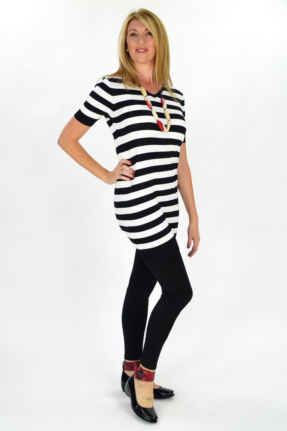 White Stripe Zoe Tunic | I Love Tunics | Tunic Tops | Tunic | Tunic Dresses  | womens clothing online