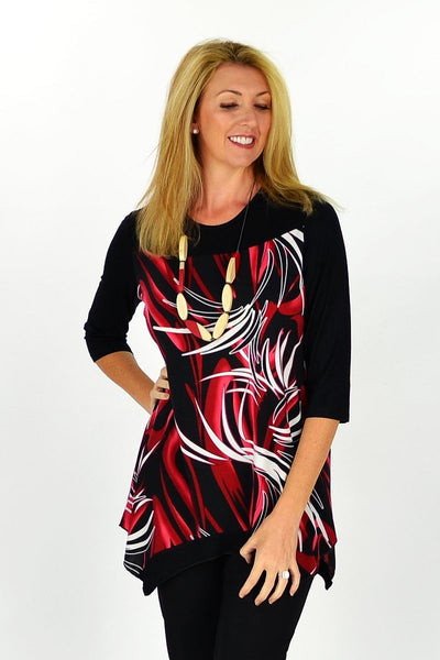Red Island Tunic - at I Love Tunics @ www.ilovetunics.com = Number One! Tunics Destination