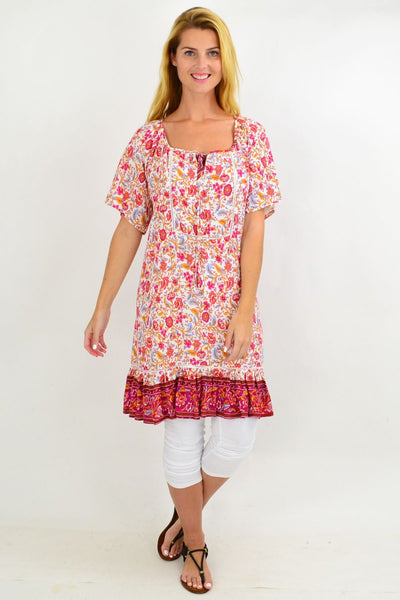 Colourful Relaxed Floral Tunic Dress | I Love Tunics | Tunic Tops | Tunic | Tunic Dresses  | womens clothing online