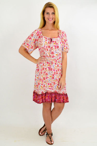 Colourful Relaxed Floral Tunic Dress