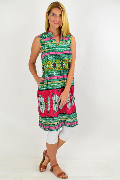 Oriental Green Line Tunic Dress | I Love Tunics | Tunic Tops | Tunic | Tunic Dresses  | womens clothing online
