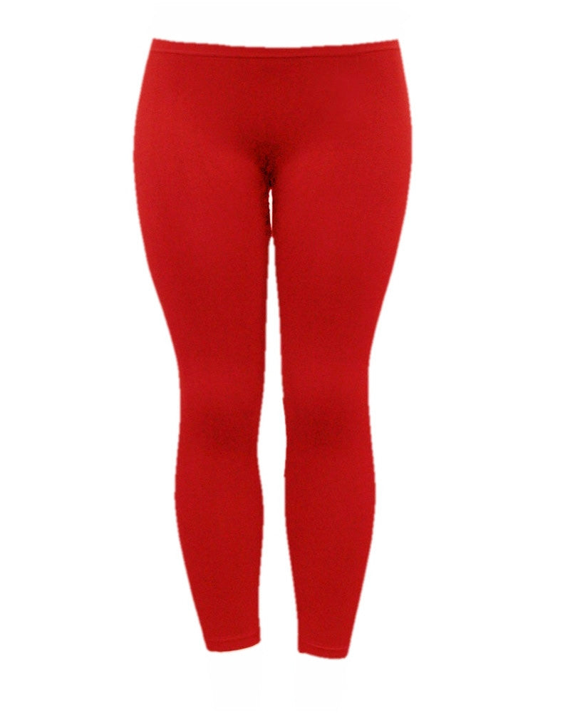 Red Full Length Leggings - at I Love Tunics @ www.ilovetunics.com = Number One! Tunics Destination