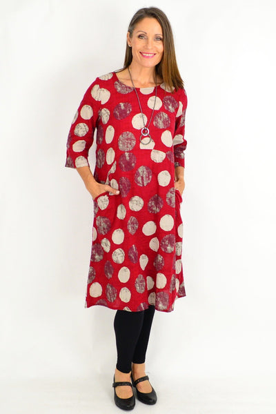 Brick Red Laura Spot Tunic