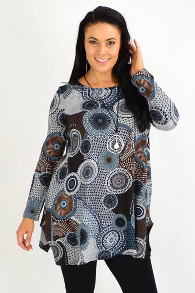 Mandala Winter Fleece Tunic Top - I Love Tunics