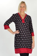 Red Kerala Tunic | I Love Tunics | Tunic Tops | Tunic | Tunic Dresses  | womens clothing online