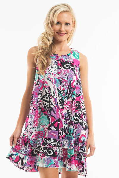 Abstract Print Sleeveless Tunic