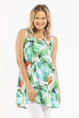 Birds of Paradise Sleeveless Tunic Top | I Love Tunics | Tunic Tops | Tunic | Tunic Dresses  | womens clothing online