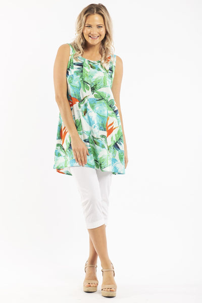 Birds of Paradise Sleeveless Tunic Top