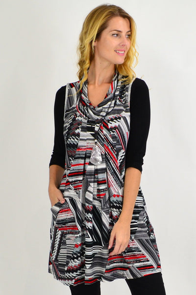 Rachels Rolled Neck Tunic Top - I Love Tunics