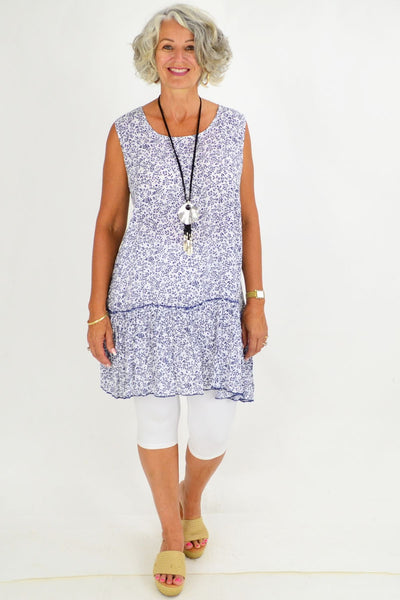Blue Amelia Sleeveless Tunic