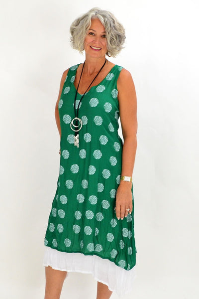 Green Spot Overlay Tunic Dress | I Love Tunics | Tunic Tops | Tunic | Tunic Dresses  | womens clothing online