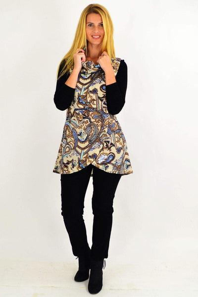 Paisley Fold Over Front Tunic Top | I Love Tunics | Tunic Tops | Tunic | Tunic Dresses  | womens clothing online