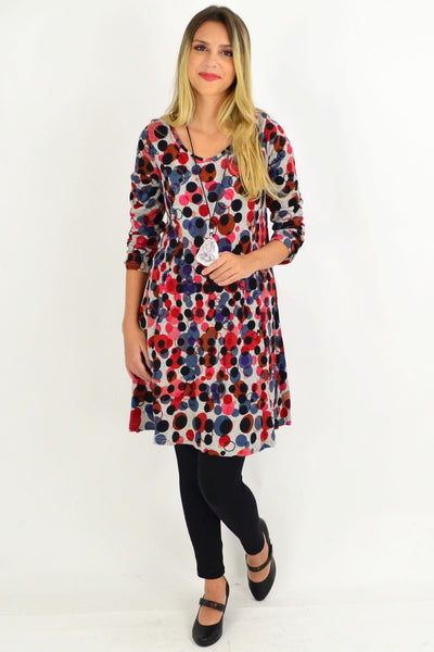 Sofie Spotty Long Sleeve Tunic Dress