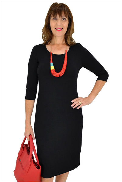 Black Long Tunic Dress | I Love Tunics | Tunic Tops | Tunic Dresses | Women's Tops | Plus Size Australia | Mature Fashion