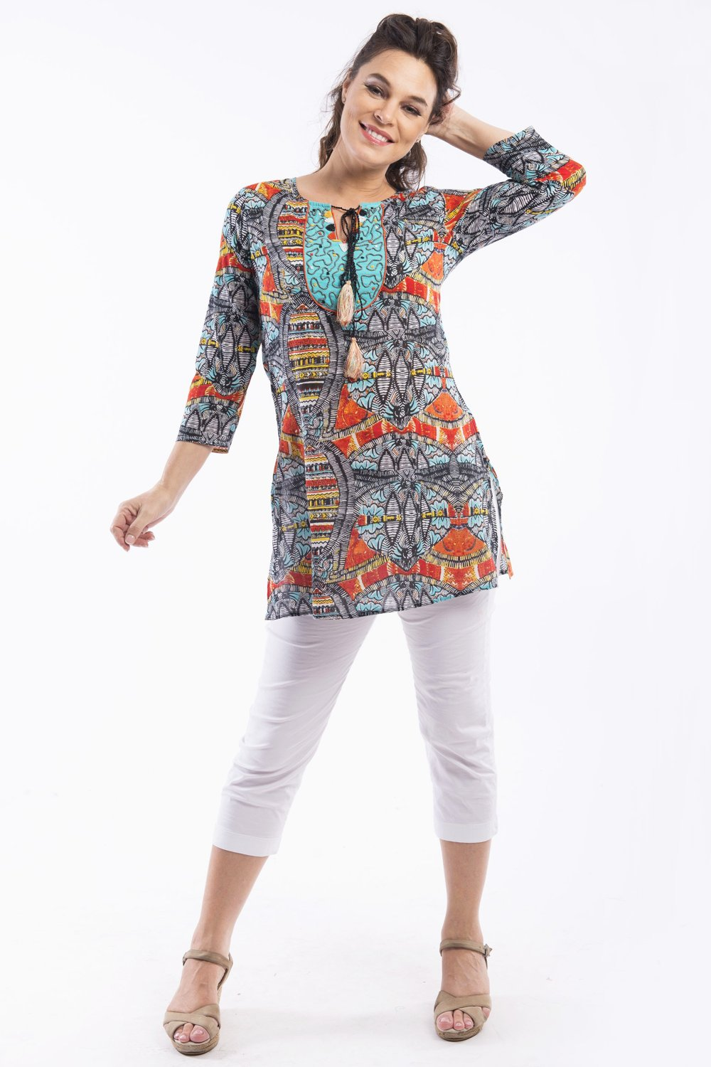 Yoraba Kurta Tunic by Orientique - at I Love Tunics @ www.ilovetunics.com = Number One! Tunics Destination
