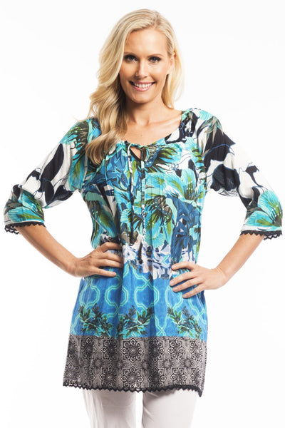 Bali Garden Tunic | I Love Tunics | Tunic Tops | Tunic Dresses | Women's Tops | Plus Size Australia | Mature Fashion