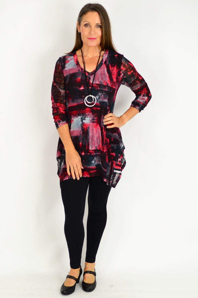 Red Nova Tunic Top