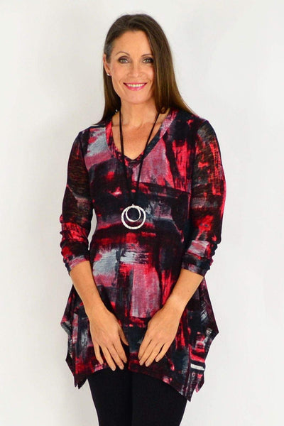 Red Nova Tunic Top | I Love Tunics | Tunic Tops | Tunic | Tunic Dresses  | womens clothing online