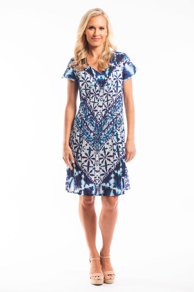 Blue White Miracle Tunic Dress