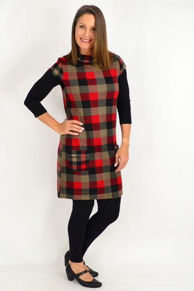 Tartan Inspired Tunic Top | I Love Tunics | Tunic Tops | Tunic | Tunic Dresses  | womens clothing online