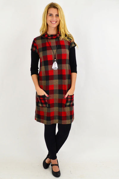 Tartan Inspired Tunic Top
