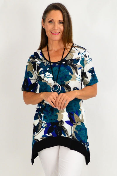 Ava Floral Tunic Top | I Love Tunics | Tunic Tops | Tunic Dresses | Women's Tops | Plus Size Australia | Mature Fashion