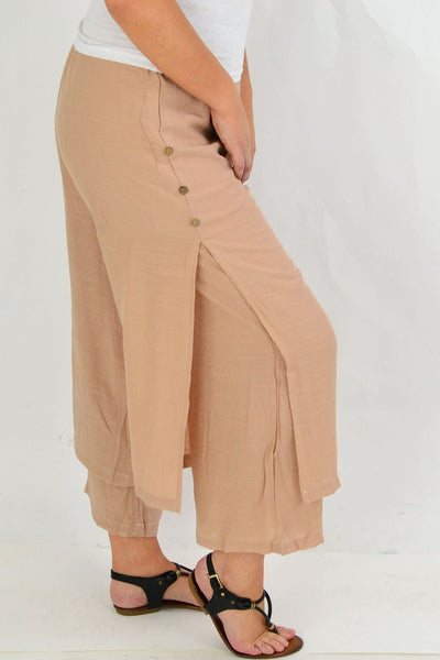 Dusty Pink Double Layer Pants