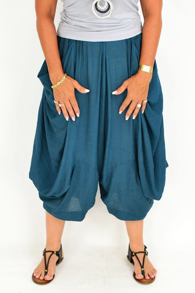 Teal Ameila Wide Leg Pant